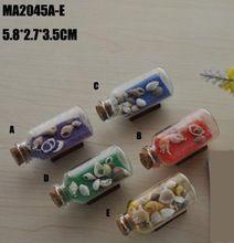 Stredomorskom štýle Sklenené fľaše bytové dekorácie Colored Sand prianím Bottle bytové dekorácie doplnky 5,5 * 3,5 cm (Čína (pevninská časť))
