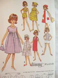 Simplicity 5446 Tammy Doll Clothes Vintage Sewing by EmSewCrazy