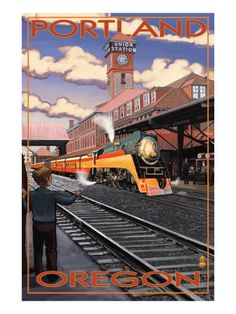 vintage Union Station poster