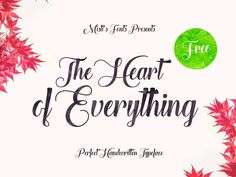 The Heart of Everything - Free Font by Misti's Fonts Best Free Script Fonts, Handwritten Fonts, Calligraphy Fonts, Typography Fonts, New Fonts, Font Free, Hand Lettering, Caligraphy, Funky Fonts