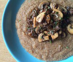 "Amaranth ""Risotto"" with Mushrooms Recipe | Epicurious.com mushroom ..."