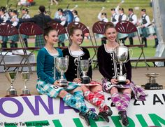 2016 Highland Dancing World Champions: U16 Erin Blair CA USA, U18 Emma Schiff CA USA & Adult Marielle Lesperance ON Canada.
