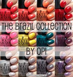 opi brazil collection | The OPI Brazil collection was one of the most anticipated releases ...