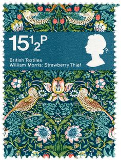 british textiles stamp - william morris by maraid, via Flickr