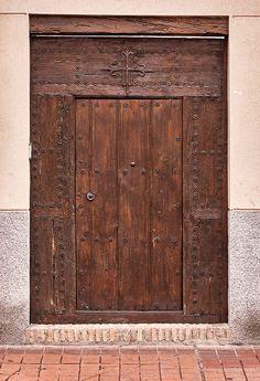 The door of a residential home in Alcala de Henares (Madrid Autonomous Community, Spain)