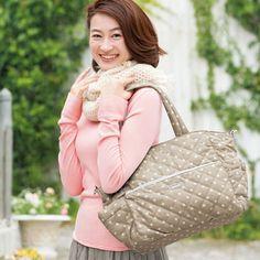 イメージ:アフタヌーンティー 軽量約350gのキルティングマザーズバッグ
