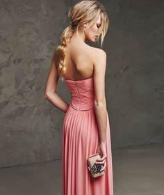 07c38d2f1b17 Sweetheart Long Chiffon Formal Bridesmaid Dress A Line Pleats Floor Length  Zipper Pink Evening Prom Party Gown Cheap