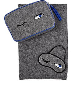 Barneys New York Cashmere Travel Throw & Eye Mask Set - Women - 504717193