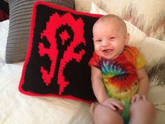 World of Warcraft Horde Crochet pillow