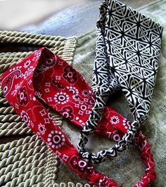 how to make fabric headbands - hopefully I can use up some of my fabric scraps this way!