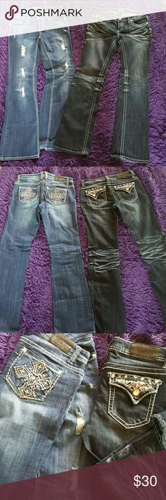 Soundgirl Jean Bundle Used once each!! Super cool Jeans! Size 11. I can sell separately as well, $20 each or 2 ?$30. Offers are also Welcome! SoundGirl Jeans Boot Cut