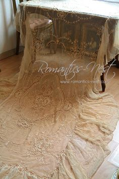 Tambour lace bedspread