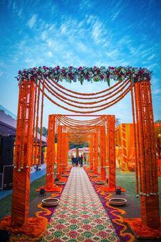 genda phool entrance, floral entrance