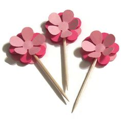 Hey, I found this really awesome Etsy listing at https://www.etsy.com/listing/210928043/flower-cupcake-toppers-floral-bridal