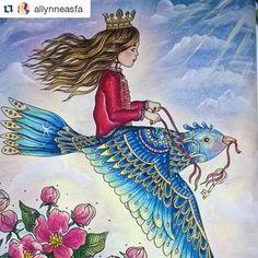 Que delicado! By @allynneasfa    #dagdrömmar  #daydream  #hannakarlzon  #desenhoscolorir #coloringbook #hannakarlzondagdrömmar #sommarnatt