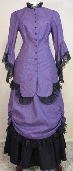 FRONTIER CLASSICS Victorian Purple Velvet Ensemble Steampunk Dickens