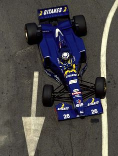 Olivier Panis in a Ligier-Mugen-Honda at the 1995 Monaco Grand Prix.