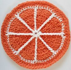 #266 Orange Slice Dishcloth – Maggie Weldon Maggies Crochet