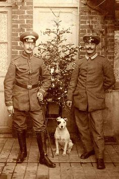 First World War Christmas (photo from http://www.flickr.com/photos/libbyhalldogs/5939871016/in/pool-92873396@N00/)
