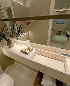 Banheiro / Lavado com pedra de Limestone <3