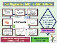 Science Stuff: Cell Organelles Mix and Match Review Game