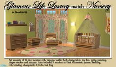 Nursery meshes made to match Maxis' GL Luxury objects.  Found in TSR Category 'Nurseries'