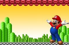 Super Mario Bros Free Party Printables and Invitations. Super Mario Brothers, Super Mario Bros, Super Mario Birthday, Mario Birthday Party, Super Mario Party, Birthday Ideas, Birthday Parties, Wii U, Mario Free