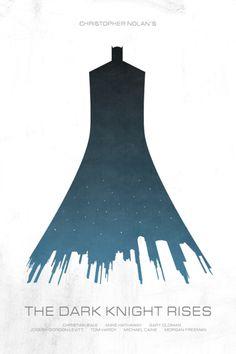 minimal movie poster - the dark knight rises –via John McDevitt via Laura Kagemann