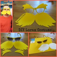 DIY LoraxCostume - Our family went with a Dr. Seuss theme for Halloween this year. My husband's pick was the Lorax and my job was to come up with a DIY costume for him. I had come across a picture that linked to a blog of  a great and easy idea. The blog didn't have a tutorial, but I figured I could recreate it and share how I did it here. The project is super simple and only requires a few items.