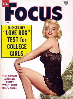 Marilyn Monroe Focus Cover Copyright 1952 - www.MadMenArt.com | Actress, model…