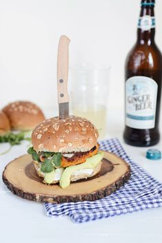 Sweet Potato and Cannellini Bean Burger - www.yvestown.com