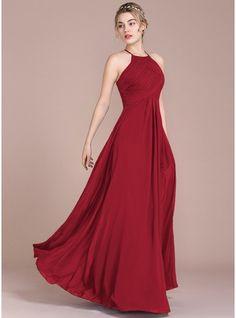 New Arrivals, Burgundy, Ankle-Length, Floor-Length, A-Line/Princess, Empire, Plus, Bridesmaid Dresses, Discount Bridesmaid Dresses, Bridesmaid Dresses 2017 - JJsHouse