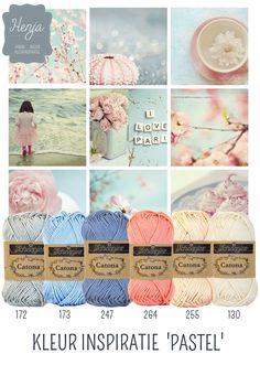 Kleurinspiratie Pastel / Scheepjes Catona