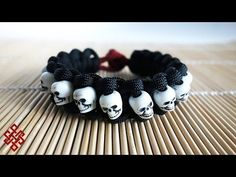 How to Make a Snake Knot Paracord Bracelet with Beads and Shackle (Tiki Tribunal) Tutorial - YouTube