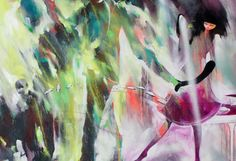 DREAMSCAPE PAINTINGS BY WILL BARRAS...his work has evolved into dynamic images featuring distorted figures walking, biking, and riding horses through colorful landscapes.