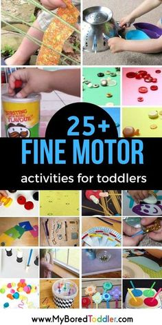 If you're looking for fine motor activities for toddlers then we have a huge collection of ideas for you! It's amazing how quickly your toddler's fine motor skills will improve with these fun and� More Toddler Fine Motor Activities, Activities For 1 Year Olds, Motor Skills Activities, Sensory Activities, Infant Activities, Fine Motor Skills, Toddler Games, Toddler Play, Reading Activities