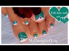 French Tip Toenail Art | Green MadamGlam Toenails ♥ Зеленый Педикюр