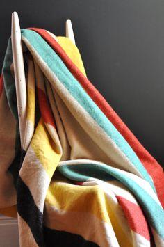 Vintage Hudson Bay Style Wool Blanket