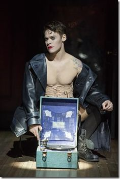 """Randy Harrison stars as Emcee in Roundabout Theatre's """"Cabaret"""" by Kander and Ebb, directed by Sam Mendes and Rob Marshall. (photo credit: Joan Marcus)"""