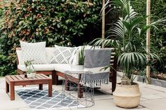 Ikea Applaro Outdoor Seating - A Paved Patio With Global Inspired Accents. Image By Adam Crohill Ikea Outdoor, Patio Ikea, Outdoor Seating, Ikea Garden Furniture, Patio Furniture Cushions, Modern Outdoor Furniture, Patio Chairs, Wooden Furniture, Furniture Movers