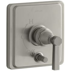 Kohler Pinstripe Rite-Temp Pressure-Balancing Shower Faucet with Diverter and Grooved Lever Handle Finish:
