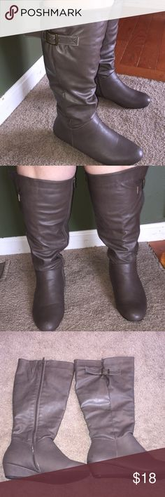 Avenue gray 9.5W wide calf boots Avenue gray size 9.5W wide calf boots, great condition, one scuff on back of one of the boots (see photo), flat (no heel) Avenue Shoes