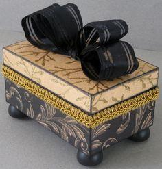 Elegant Gold Decorative Box by funkyart08 on Etsy