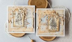 Scrapiniec inspirations on blogspot: Twin Christmas Cards by mamajudo
