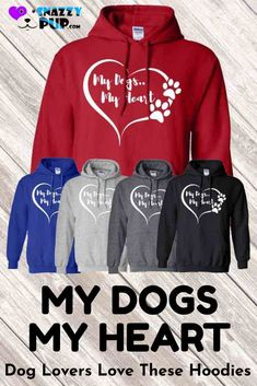 My Dogs My Heart Hoodie Sweatshirt Dog Mom Gifts, Dog Lover Gifts, Dog Lovers, Dog Hoodie, Dog Shirt, Funny Boxer, Boxer Dogs, Dog Christmas Gifts, Cool T Shirts