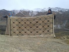 Pile Knot Rug Handwoven In High Atlas Mountains -- Directly Support Moroccan Female Artisans