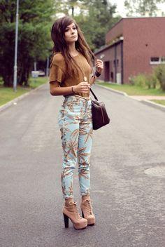 Printed pants are so lush