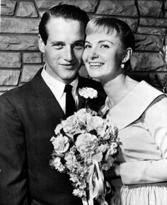 The wedding of Paul Newman and Joanne Woodward at The Little White Chapel in Las Vegas, January They were married for life and so in love! A true hollywood romance! Hollywood Couples, Hollywood Wedding, Celebrity Couples, Celebrity Pix, Celebrity Wedding Dresses, Celebrity Weddings, Great Love Stories, Love Story, Classic Hollywood