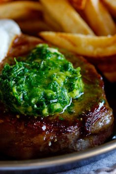 Rib-Eye Steak with Herbed Chilli Butter