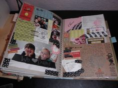 SmashBook idea website. Love the paint swatch waves!